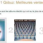 Jarre squatte les premières places du top téléchargement électro de Qobuz