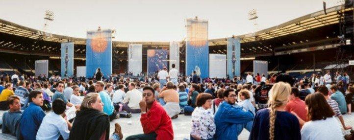 Le public avant le concert à Wembley