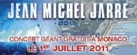 Jean Michel Jarre en concert gratuit à Monaco le 1er juillet 2011
