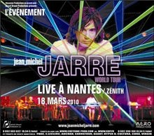 Première affiche du concert de Jean Michel jarre à Nantes le 18 mars 2010