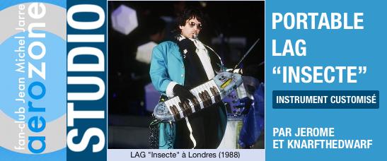 """Le clavier portable Lag """"Insecte"""" (1988-1990)"""