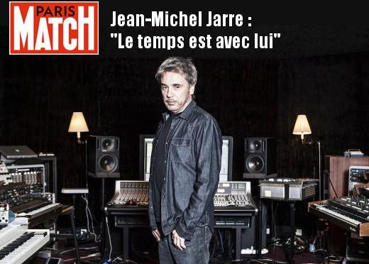 Jean-Michel Jarre: Le temps est avec lui (Paris Match, 16/10/2015)