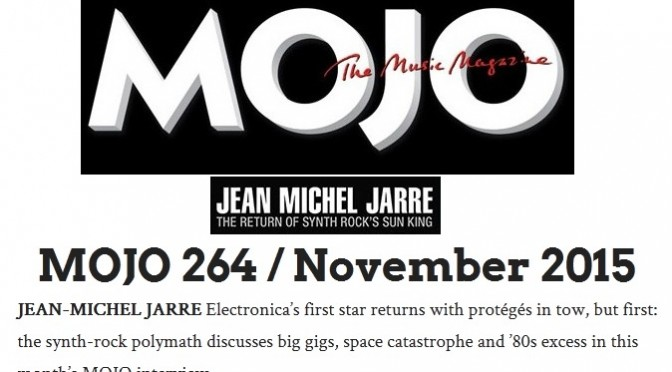 Grande interview à Mojo 264/Novembre 2015