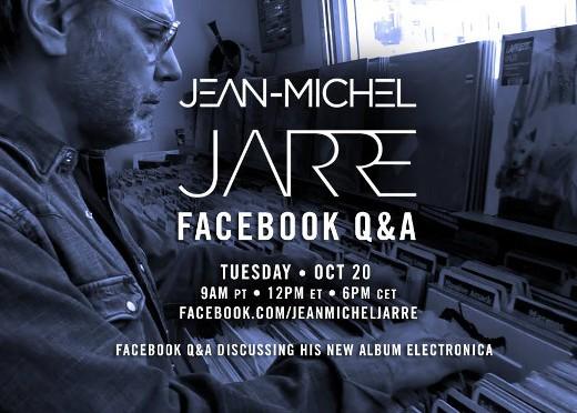 Jarre répond à ses fans sur Facebook (20/04/2016)