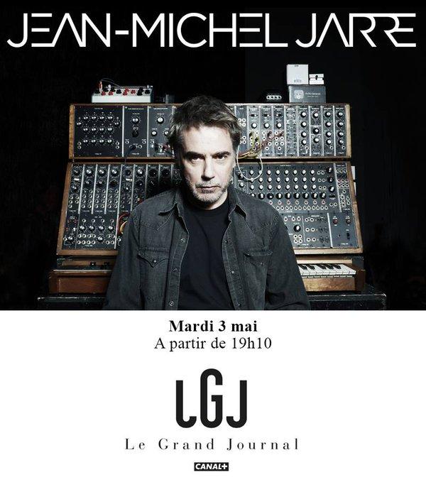 Jean-Michel Jarre au Grand Journal de canal + le 3 mai 2016