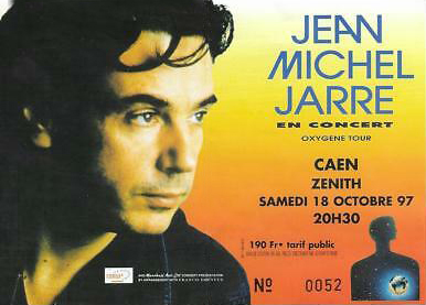 Ticket-Concert-Caen-oxygene-tour-1997-Jean-Michel-Jarre