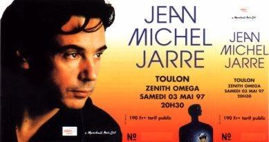 Ticket toulon 1997 oxygene tour