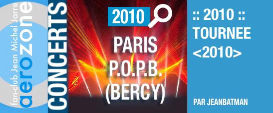 Paris, Palais Omnisports de Bercy (25/03/2010, tournée <2010>)