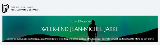 Jean-Michel Jarre à la Philharmonie de Paris du 16 au 20/10/2020